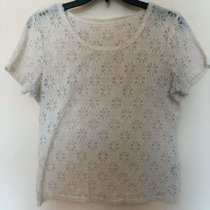 Tops - Vintage | floral cream white top